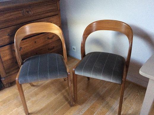 Adrom, formation tapisserie, galerie des élèves, petites chaises