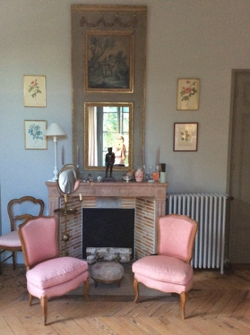 Adrom, formation tapisserie, galerie des élèves, chaises Louis XV