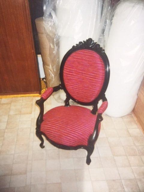 Adrom, formation tapisserie, galerie des élèves,fauteuil Napoléon