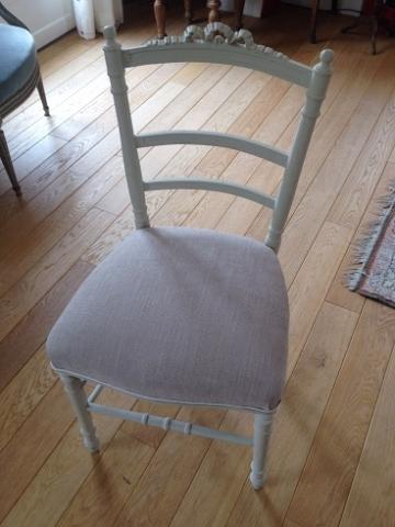 Adrom, formation tapisserie, galerie des élèves, chaise