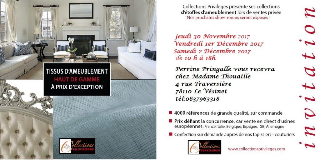 Adrom, formation tapisserie, invitation vente privée