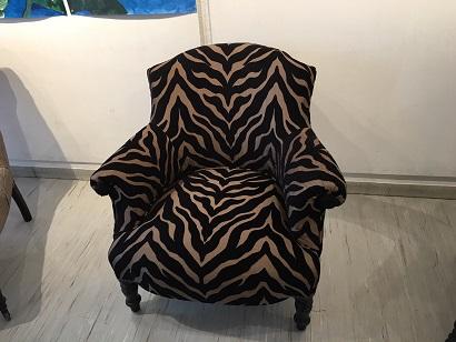 Adrom, formation tapisserie, exposition Le Pecq, fauteuil Napoléon