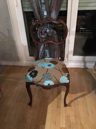 Adrom, formation tapisserie, exposition Le Pecq, chaise Napoléon