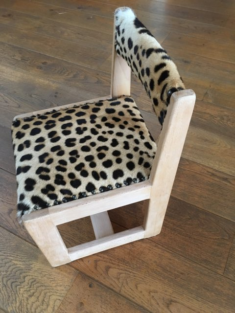 Adrom, formation tapisserie, réalisations 2017 - 2018, chaise écolier