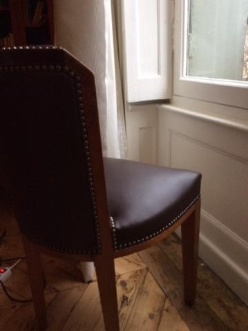 Adrom, formation tapisserie, galerie fauteuil du mois, octobre 2017, chaise 40's