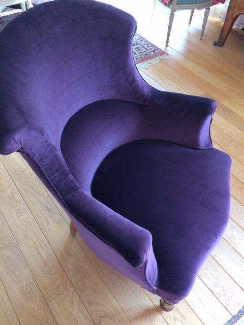 Adrom, formation tapisserie, galerie fauteuil du mois, février 2018, fauteuil lambrequin