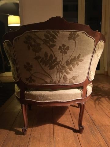 Adrom, formation tapisserie, galerie fauteuil du mois, mars 2018, fauteuil style Louis XV