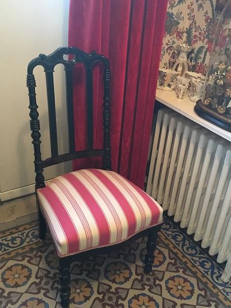 Adrom, formation tapisserie, réalisations 2017 - 2018, chaise Napoléon