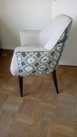 Adrom, formation tapisserie, réalisations 2017 - 2018, fauteuil 50's