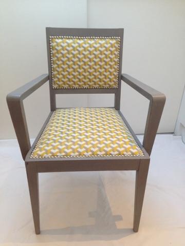 Adrom, formation tapisserie, galerie fauteuil du mois, mai 2018, petit fauteuil