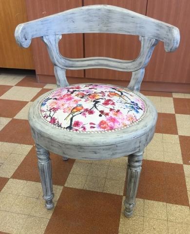Adrom, formation tapisserie, galerie tous les fauteuils de juin 2018, fauteuil