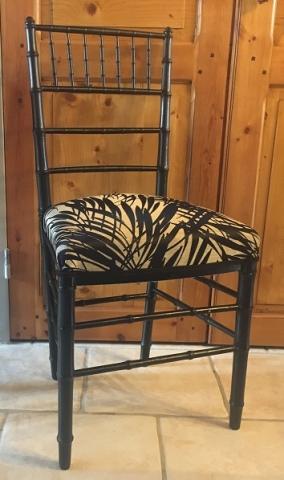Adrom, formation tapisserie, galerie tous les fauteuils de juin 2018, Chaise