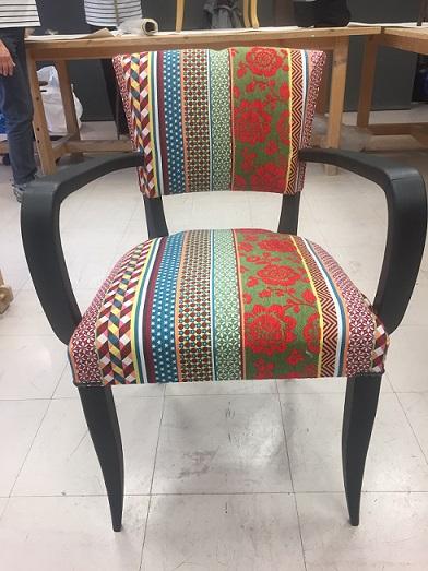 Adrom, formation tapisserie, galerie tous les fauteuils de juin 2018, Bridge