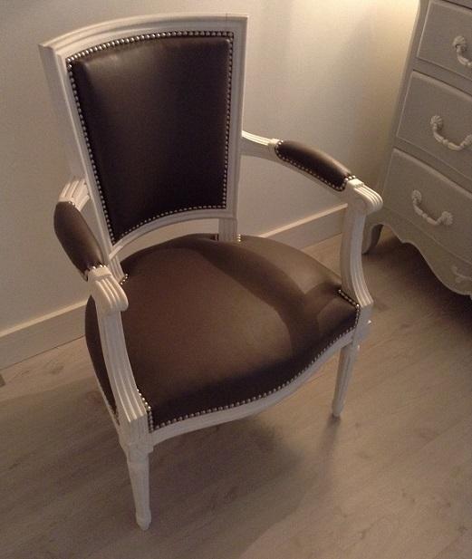 Adrom, formation tapisserie, réalisations 2017 - 2018, fauteuil Louis XVI